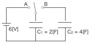 コンデンサー回路の図